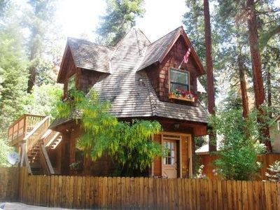 Photo for Romantic Gingerbread Cottage, sleep in octagon bedroom w/ 20'  teepee ceiling