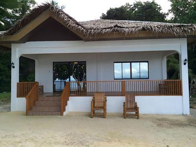 Photo for Private beach front home. Modern with incredible views & dive site.