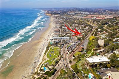 BEST location in Del Mar beach condo.  Luxury condo with a/c! Beach steps away