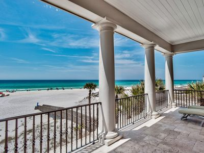 Photo for Ocean front home with private boardwalk to beach, fireplace: Chez Fleur