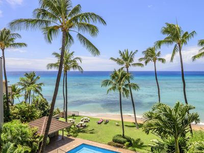 Photo for Hale Mahina B401-  Epic Ocean Views and Sunsets with a private beach- Sleeps 6