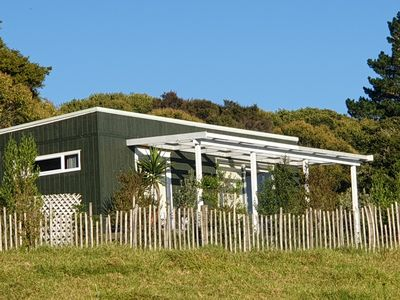 Photo for Kingfisher Cabin Mangawhai charming self contained private cabin with views..
