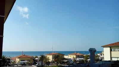 Photo for Vintage, Big Sea View Apartment, Just 50 meters from the Beach