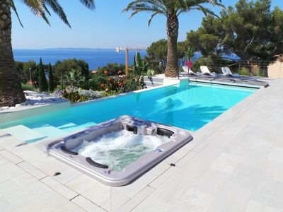 Photo for new villa 4 bedrooms sea view infinity pool
