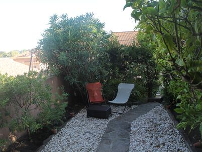 "Photo for Nice apt on the ground floor - terrace, private garden - view ""escape sea"""