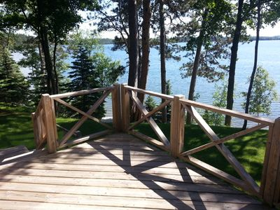 Front deck with view of lake.