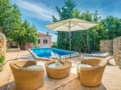 Photo for Elegant and Spacious Villa with Private Pool, Magnificent Sea View and Direct Access to the Beach!