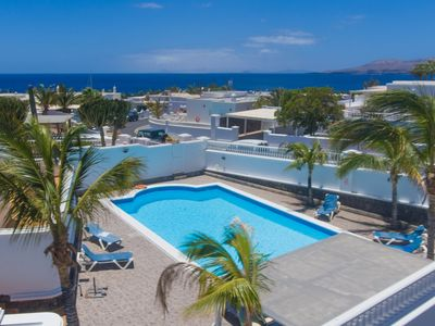Photo for Casa Ramos: Large Heated Private Pool, Walk to Beach, Sea Views, A/C, WiFi, Car Not Required