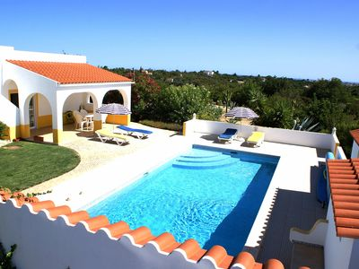 Photo for Villa with heated pool. Private country setting with Mountain and seaview.