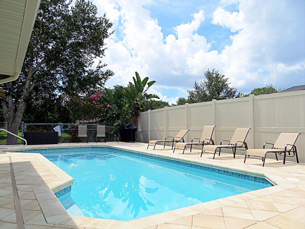 Tropical Lakefront Pool Home Vrbo