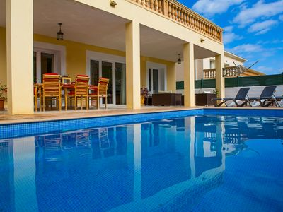 Photo for Large Family Villa, With Private Pool, & WiFi, Just Yards From The Beach