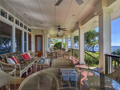 Photo for Honu La'e - 4 Bedroom, 4 Bath Ocean Front Vacation Home in Poipu with A/C