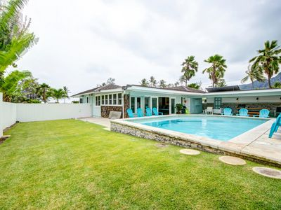 Photo for Spectacular Beach Home/sleeps10/Heated pool/outside covered entertainment/A/C