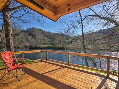 Photo for NEW! Cabin on Tuckasegee River-Mins to Bryson City