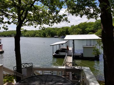 Photo for Beautiful Waterfront Cottage, Private Dock with 40'x16' Slip, Quiet Cove at 8 MM