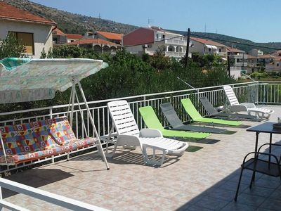 Photo for Two bedroom apartment with terrace and sea view Trogir (A-9209-a)