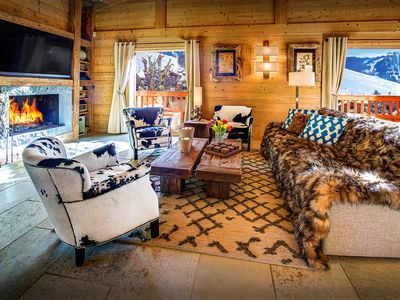 Photo for 5* Ski back to an open fire, cosy sofas and relaxing hammam - OVO Network