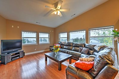 Multiple windows in the living area allow the sun to illuminate the space!