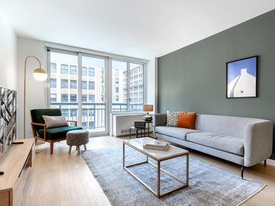 Photo for Lovely Midtown South 1BR w/ W/D + Gym + Rooftop Lounge by Blueground