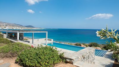 Photo for Paros Sunset Beach Villa 3br upto 7guests private pool