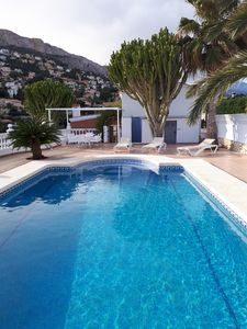 Photo for VILLA IN CALPE, 200 m TO BEACH, AIR CONDITION, WIFI, TV-SAT, SALTWATER SWIMMING