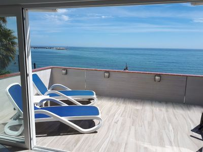 Photo for Luxury First-Line Beach-Front Apt VFT/MA 02508 Wifi, UK TV, Air Con
