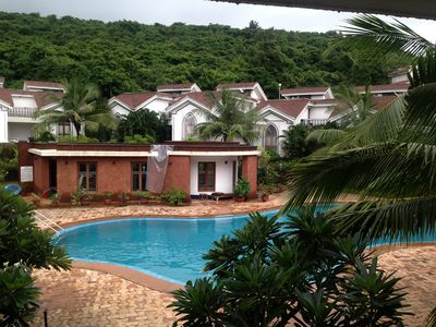 Photo for Pool Facing two Bedroom Duplex Apartment in Baga/Arpora/Anjuna(1207)