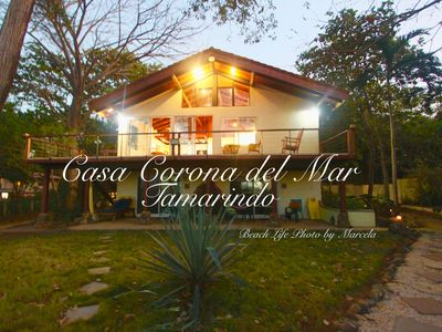 Photo for RIGHT ON THE TAMARINDO BEACH, 4 bedroom house