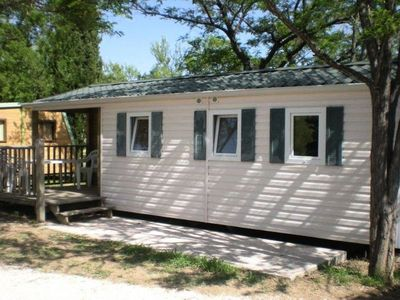 Photo for Camping Fouguières *** - Mobile home Comfort Family Watipi 4 Rooms 6 People