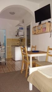 Photo for Studio apartment: extra bed available; with a balcony; parquet; kitchen niche; table and chairs for