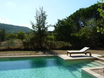 Photo for Charming stone cottage in Gordes, swimming pool 10x5 m, quiet and view Luberon