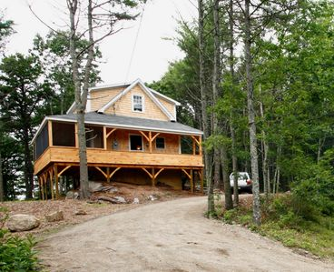 Sebago Cottage (from the driveway)