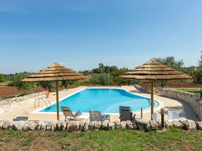 Photo for Restored traditional villa with big private pool in large grounds near Martina