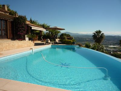 Photo for Magnificent villa in the hills of mandelieu sea view infinity pool