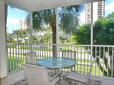 Photo for Peaceful garden condo w/ heated pool across the street from South Beach