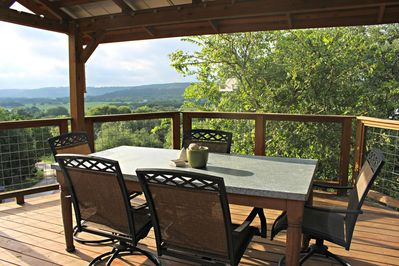 COOLVIEW CABIN - a SkyRun Texas Property - Experience the View of Wimberley Valley from the Shaded Deck
