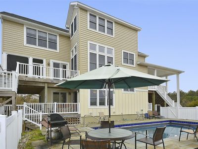 Photo for FREE ACTIVITIES!  BEAUTIFUL MULTI LEVEL HOME WITH PRIVATE POOL!! Fantastic one of a kind 6 bedroom plus loft and den