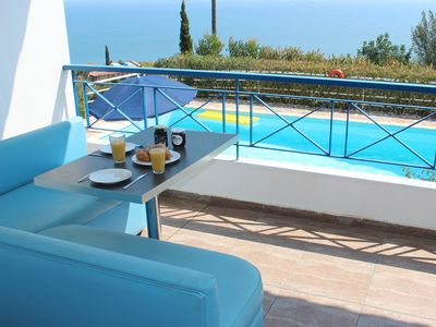 Photo for Villa THALIA sea view, private pool, 2 bedrooms, 1 bathroom. EOT licensed.