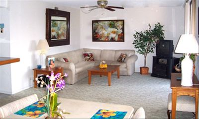 Spacious living area awaits you in your vacation home.