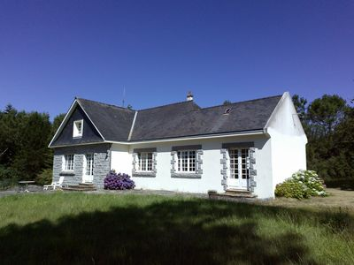Photo for In a quiet setting of moorland and forest close to the village and beaches.