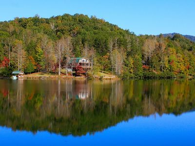 Photo for Lake Lure Retreat - A Beautiful Lakefront Lodge on Mirror Lake~Waterfront~Newly Expanded Deck