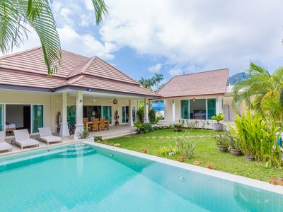 Photo for Pacotte - 2 bedroom villa tropical garden quiet private pool well fenced