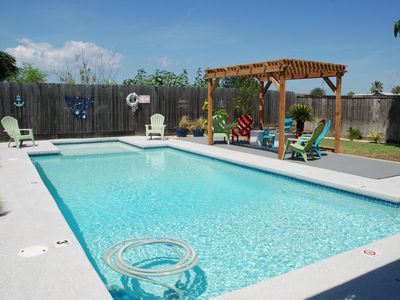 """Photo for """"NanTexas"""" A Family Friendly Nantucket Style Home With Private Pool   STR#181917"""