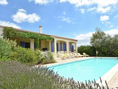 Photo for Air-conditioned villa with heated pool, jacuzzi and play area