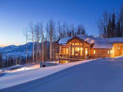 Photo for Beautiful, one of a kind 4 bedroom home at the top of the gondola : Cabin on the Ridge