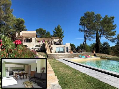Photo for PROVENCAL APARTMENT IN PROPERTY 2 HECTARES NEAR MONTPELLIER SWIMMING POOL