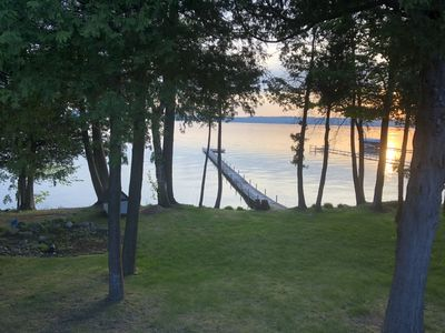 Large Lakefront Burt Lake Home with Amazing Sunset Views!!