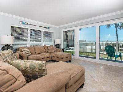 "Photo for ""Sea Oats Unit 106"" Beautiful Ground Floor Condo, steps to the pool! Sleeps 8"