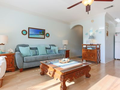 Photo for CARIBBEAN BLUE 1 BDR condo short walk to the beach. Family friendly. Pool view