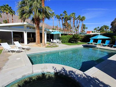 Photo for Palm Springs vacation home offers sun-filled rooms, great views, an outdoor living room, pool, spa!